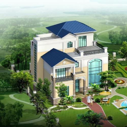 新农村二层自建房屋别墅建筑CAD施工设计图纸效果图大全7000套